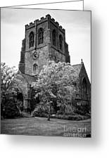 St Nicholas Church Including Graveyard Containing Grave Of Mildred Washington Grandmother Of George  Greeting Card