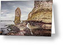 Stack And Chalk Cliff Greeting Card