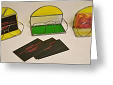 Stain glass eyeglasses business card holder glass art by leah delano stain glass eyeglasses business card holder greeting card reheart Images
