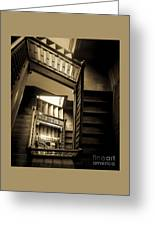 Staircase In Swannanoa Mansion Greeting Card