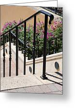 Stairs And Rails Greeting Card