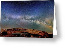 Starry Night Over Mesa Arch Greeting Card