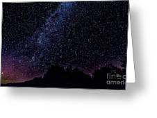 Stars Over Black Oak Lake 1 Greeting Card