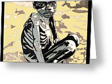 Starving African Boy Greeting Card