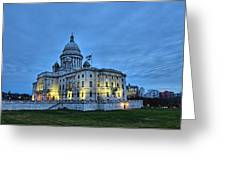 State House Night Greeting Card