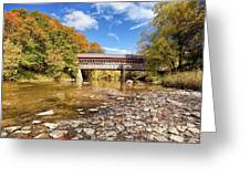 State Road Covered Bridge Greeting Card