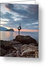Statue In Budva Montenegro Greeting Card