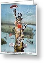 Statue Of Liberty Cartoon Greeting Card