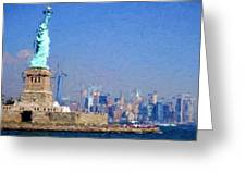 Statue Of Liberty, Nyc Greeting Card