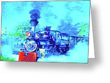 Edison Locomotive Greeting Card