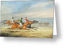 Steeplechasing Henry Thomas Alken Greeting Card
