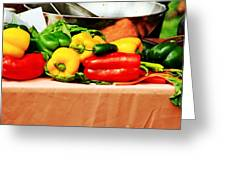 Still Life - Vegetables Greeting Card