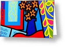 Still Life With Henri Matisse's Verve Greeting Card