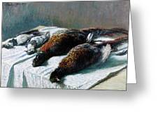 Still Life With Pheasants And Plovers Greeting Card