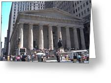 Stock Exchange On Wall Street Greeting Card