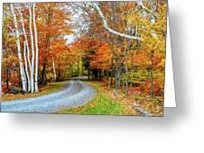 Stone Autumn Road Greeting Card