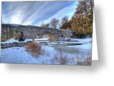 Stone Bridge At Webster Falls Greeting Card