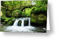 Stone Bridge Over River Greeting Card