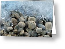 Stones And Ice Greeting Card