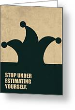 Stop Under Estimating Yourself Corporate Start-up Quotes Poster Greeting Card