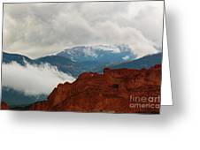 Storm Brewing At Garden Of The Gods Greeting Card
