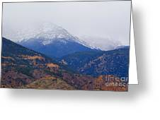 Storm Clouds On Pikes Peak Greeting Card