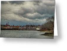 Storm Clouds Over The Bass River Greeting Card