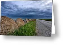Storm Clouds Prairie Sky Greeting Card