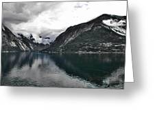 Storm In The Fiord Greeting Card