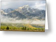 Storm On Grand Teton Greeting Card