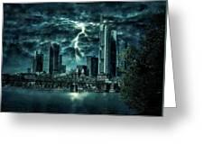Storm Over Frankfurt Greeting Card