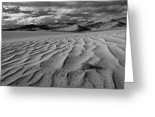 Storm Over Sand Dunes Greeting Card