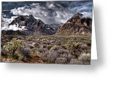 Stormy Day At Red Rock Greeting Card