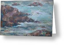 Stormy Sea Seascape Greeting Card