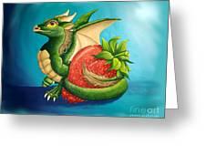 Strawberry Dragon Greeting Card