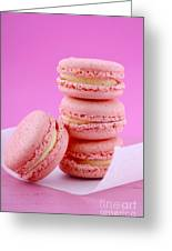Strawberry Flavor Macaroons Greeting Card