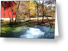 Stream Running Greeting Card