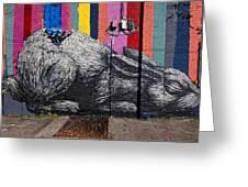 Street Art Wiiliamsburg Brooklyn Greeting Card