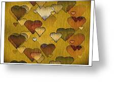 Striae To My Heart ... Greens Greeting Card