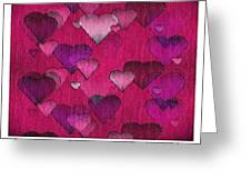 Striae To My Heart ... Pinks Greeting Card