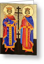 Sts. Constantine And Helen Greeting Card by Amy Reisland-Speer