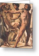 Study For The Martyrdom Of St Symphorien 1834  Greeting Card