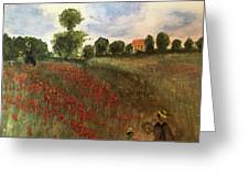 Study Of Monet Greeting Card