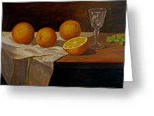 Study Of Oranges Greeting Card