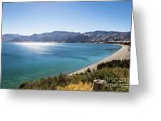 Stunning Hawea Lake In New Zealand Greeting Card