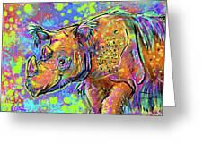 Sumatran Rhino Greeting Card