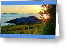 Summer Sunset View Greeting Card