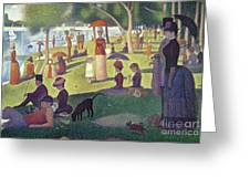 Sunday Afternoon On The Island Of La Grande Jatte Greeting Card