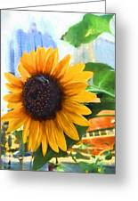 Sunflower In The City Greeting Card