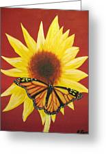 Sunflower Monarch Greeting Card